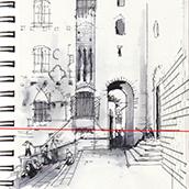 San Gimignano sketch