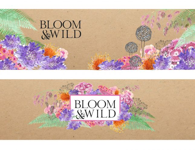 Another version of my design for Bloom & Wild's Outside the Box competition.  Discovering 'multiply' on Bill's course was a real game changer!