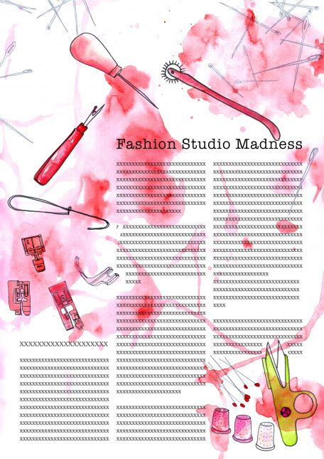 fashion studio madness with colours