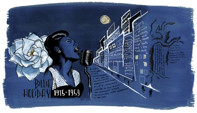 Assignment 4 | Reportage illustration | Billie Holiday