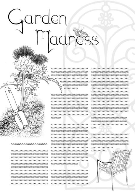 Garden Madness layout, Keith Shackleton