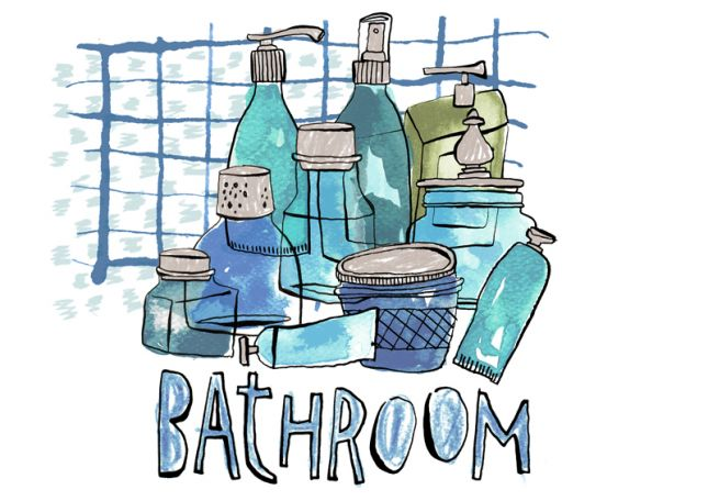 Color Bathroom Storage