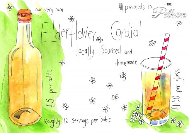 Elderflower Cordial Advert - another piece for my workplace. Really enjoyed putting this together