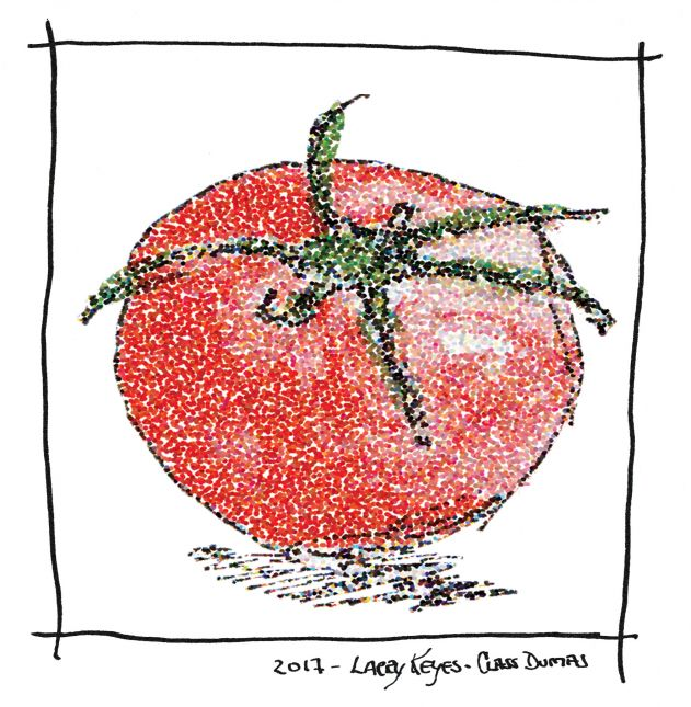 Tomato - Pointillist Tomato