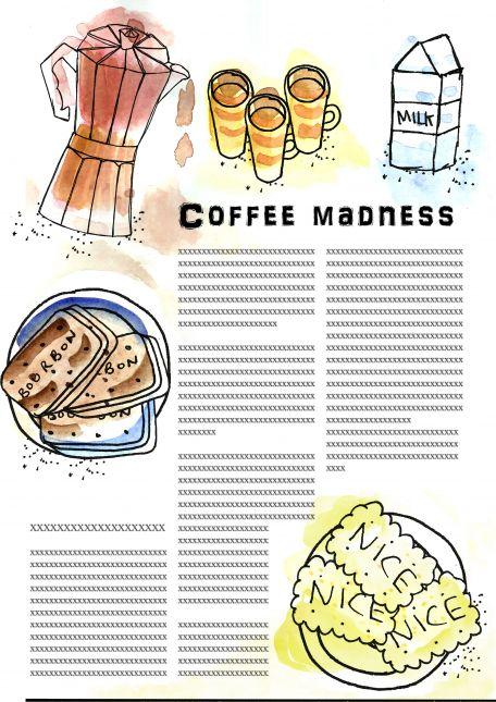 Coffee Madness - Watercolour