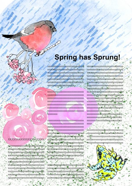 Spring! Article with colour