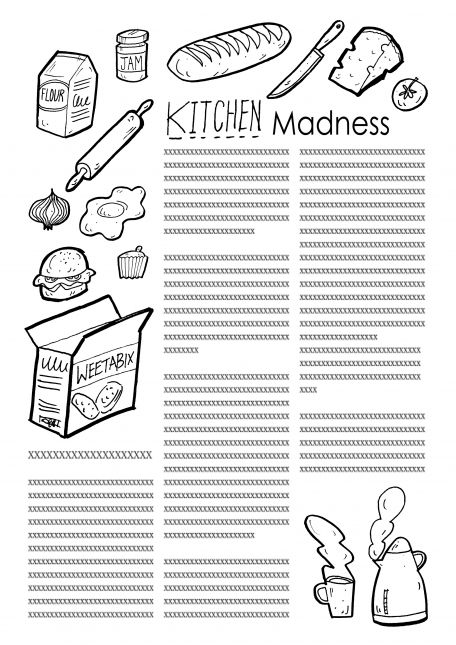 Assignment 1, Sheet 1: Kitchen drawn from memory
