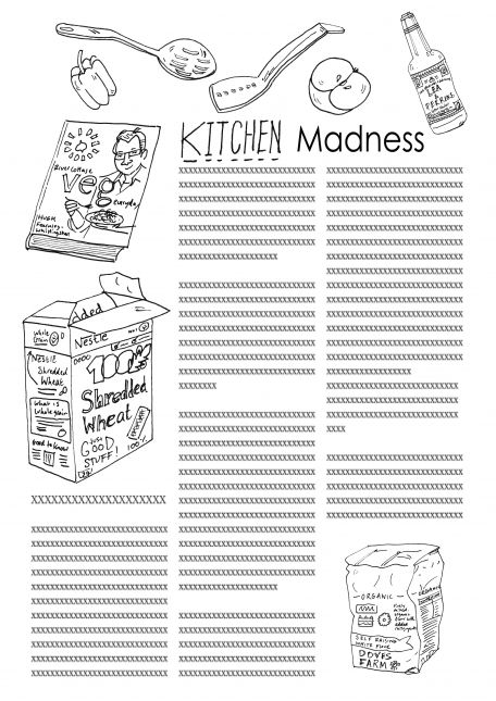 Assignment 1, Sheet 2: Kitchen drawn from observation