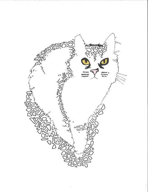 Textured Cat portrait