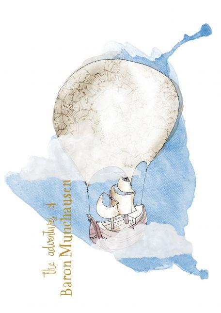 Assignment 5 | Series Illustration | Baron Muchausen - Balloon