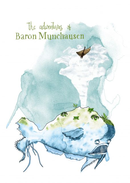 Assignment 5 | Series Illustration | Baron Muchausen - Sea Monster