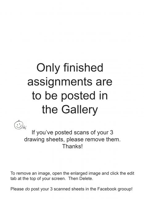 Only finished assignments, please