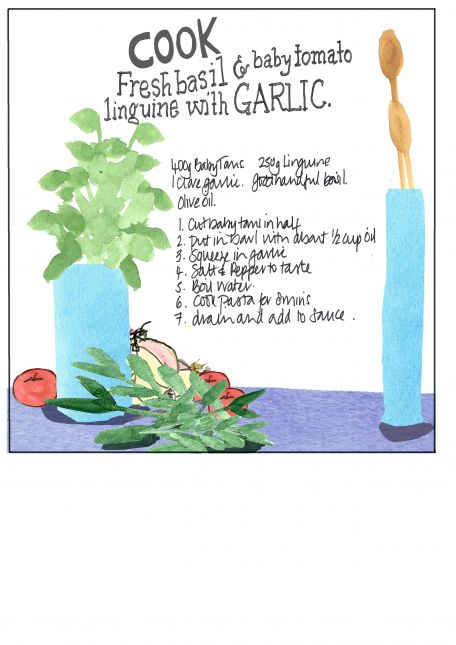 No 2  in the Series of Three:  Betty's recipe Card