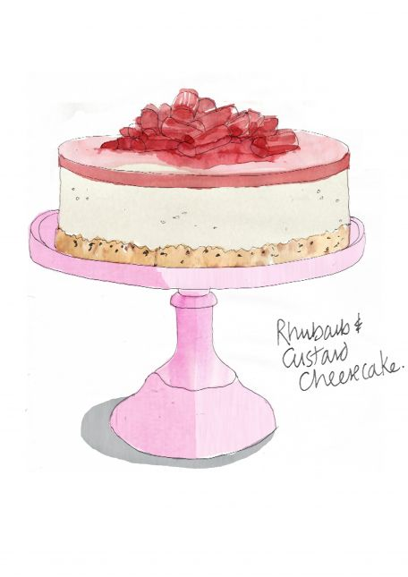 And here's The Rhubarb & Custard Cheesecake which was very delish!
