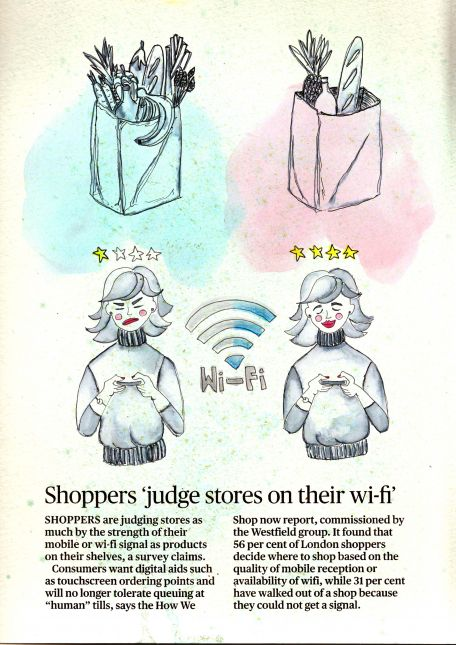 Week 3: Shoppers 'judge stores on their wi-fi'