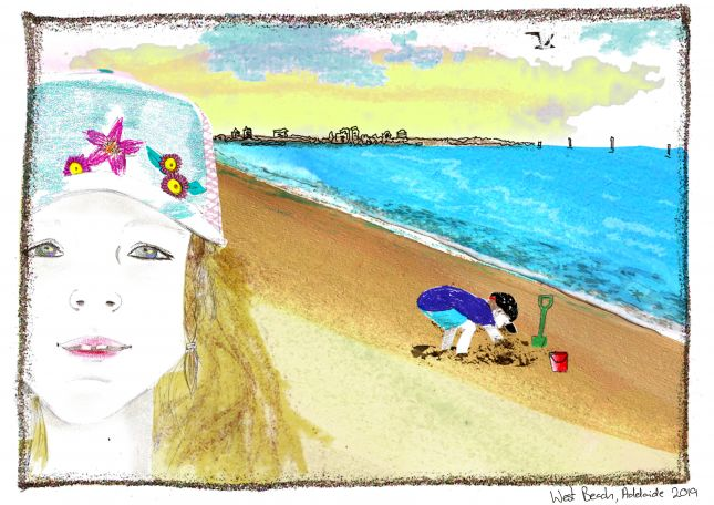 Assignment 5 - Series of 3 Illustrations.  Holiday snaps 1 of 3