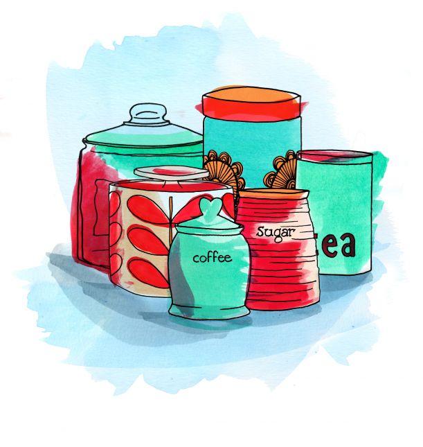 kitchen jars week two colour