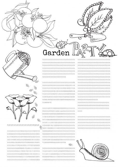 Georgia O'keeffe class lesson 1 B&W: Garden Party