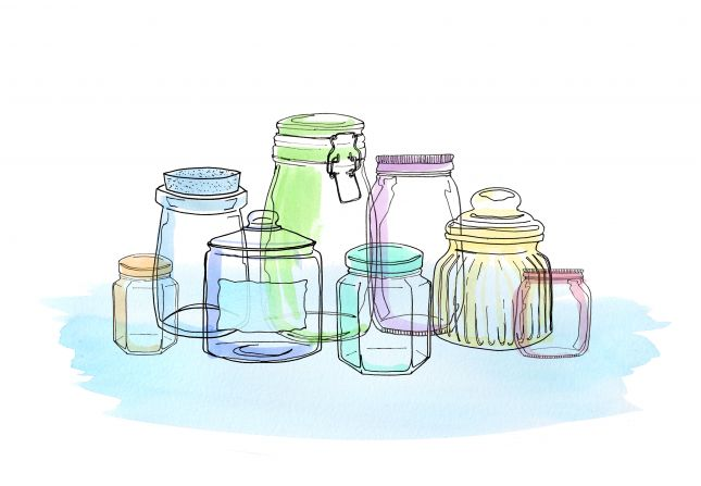 Glass Jars week two colour