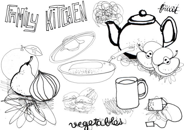 First assignment - Kitchen illustration