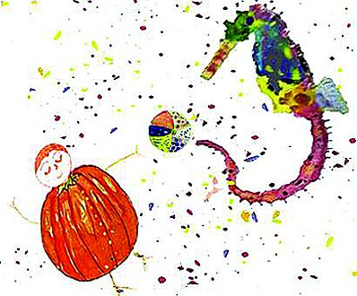 Mr pumpkin playing ball with seahorse