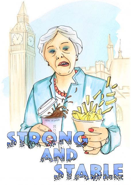 Steady on Theresa- week four Reportage Illustration